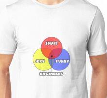 Venn Diagram - Engineers Unisex T-Shirt