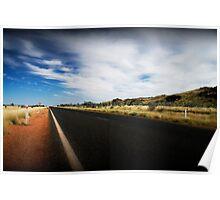 Road between Karratha and Port Hedland Poster