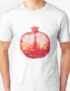 Low Poly Watercolor Pomegranate T-Shirt