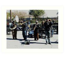 Jazz in Jackson Square Art Print