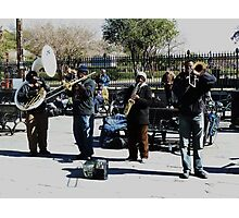 Jazz in Jackson Square Photographic Print