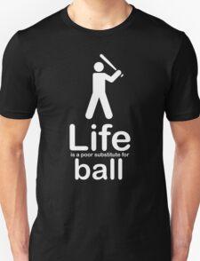 Ball v Life - White Graphic Unisex T-Shirt
