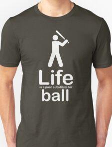 Ball v Life - White Graphic T-Shirt