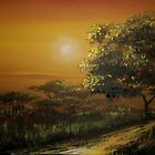 Sunset in the Bushveld by Cherie Roe Dirksen