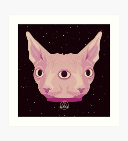 Two-Faced Sphynx From Outer Space Art Print