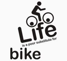 Bike v Life - Black Graphic Kids Clothes