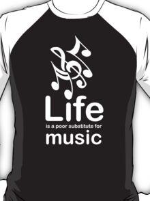 Music v Life - White Graphic T-Shirt
