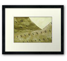 Computer Speak Framed Print