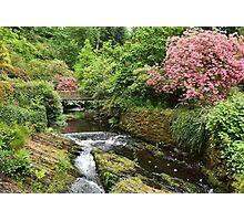 Slow Falls and Bridge Photographic Print