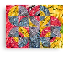 Cracked Floral Canvas Print