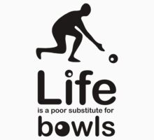 Bowls v Life - Black Graphic Kids Clothes