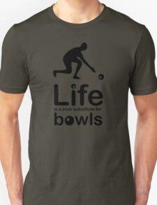 Bowls v Life - Black Graphic T-Shirt