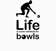 Bowls v Life - Black Graphic Men's Baseball ¾ T-Shirt