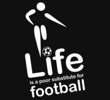 Soccer v Life - White Graphic Kids Clothes
