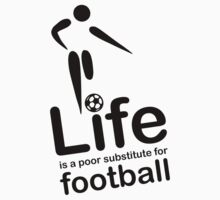 Soccer v Life - Black Graphic by Ron Marton