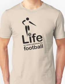 Soccer v Life - Black Graphic Unisex T-Shirt