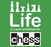 Chess v Life - White Graphic Kids Tee