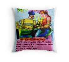 Pregnancy: Keep it Down in There! Throw Pillow