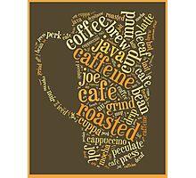 Coffee Lovers Word Cloud Photographic Print