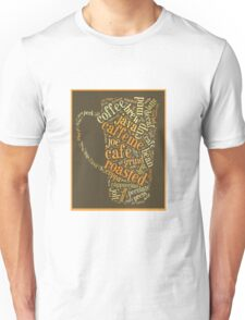 Coffee Lovers Word Cloud Unisex T-Shirt