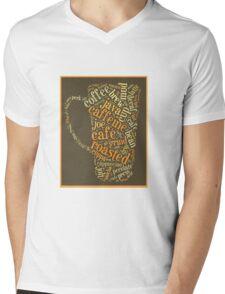Coffee Lovers Word Cloud Mens V-Neck T-Shirt