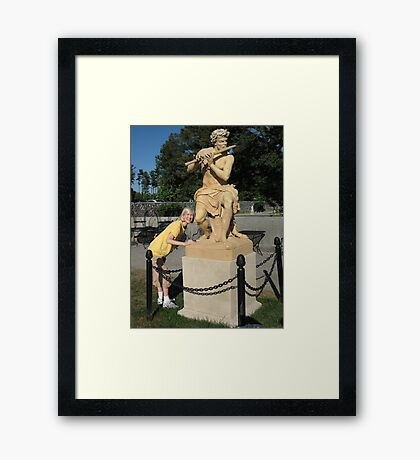 Behold the Piper God Framed Print
