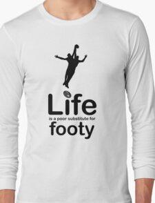 AFL v Life - Black Graphic Long Sleeve T-Shirt