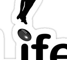 AFL v Life - Black Graphic Sticker