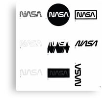Nasa Graphics Standards Manual 1976 0002 The Logotype Incorrect Uses 2 Canvas Print