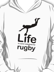Rugby v Life - Black Graphic T-Shirt