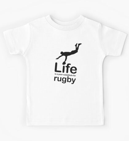 Rugby v Life - Black Graphic Kids Tee
