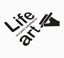 Art v Life - Black Graphic by Ron Marton