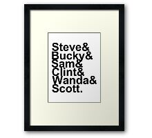 Team Captain Framed Print