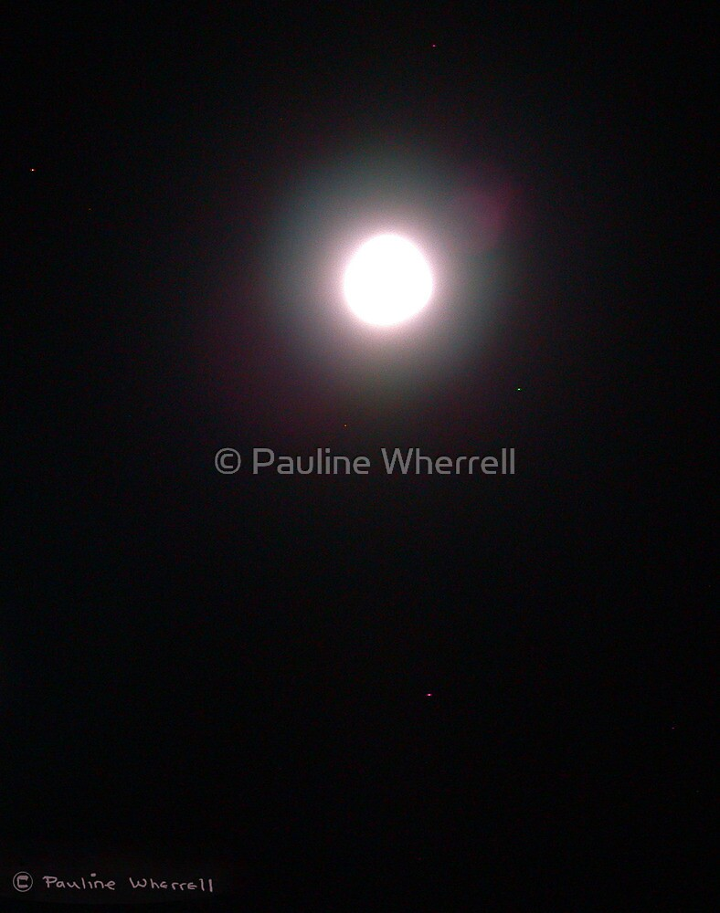 The beauty of the moon by © Pauline Wherrell