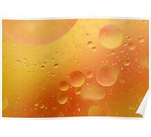 orange blobs Poster