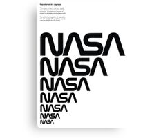 Nasa Graphics Standards Manual 1976 0006 Reproduction Art Logotype Canvas Print