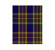 00432 Anthony Plaid Blue Tartan  Art Print