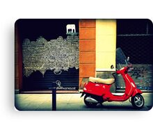 red scooter Canvas Print
