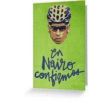 En Nairo Confiamos / In Nairo We Trust (Spanish) : Illustration on Movistar Green Greeting Card