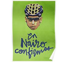 En Nairo Confiamos / In Nairo We Trust (Spanish) : Illustration on Movistar Green Poster