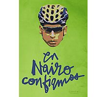 En Nairo Confiamos / In Nairo We Trust (Spanish) : Illustration on Movistar Green Photographic Print