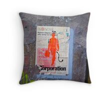 the Corporation Throw Pillow