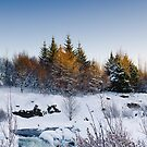 Beautiful winter day by Stefán Kristinsson
