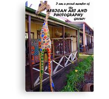 Proud to be a member of the African Art and Photography Group Banner Canvas Print