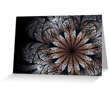 Wintry Floral Dreams Greeting Card