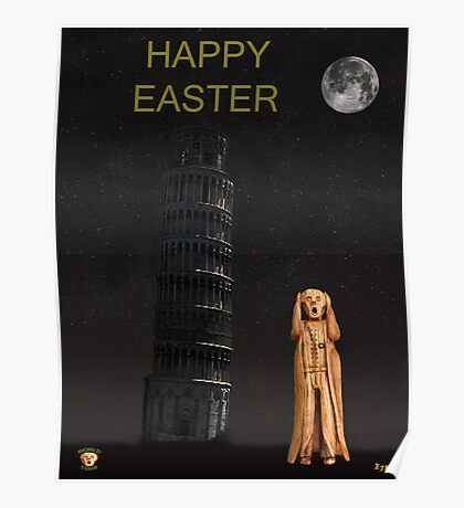 Pisa The Scream World Tour Happy Easter Poster
