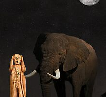 The Scream World Tour African Elephant  by Eric Kempson