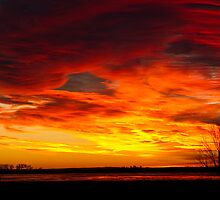 Union Reservoir Epic Sunrise Longmont Colorado Boulder County by Bo Insogna