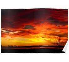 Union Reservoir Epic Sunrise Longmont Colorado Boulder County Poster