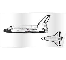 Nasa Graphics Standards Manual 1976 0052 Spacecraft Markings Space Shuttle Poster